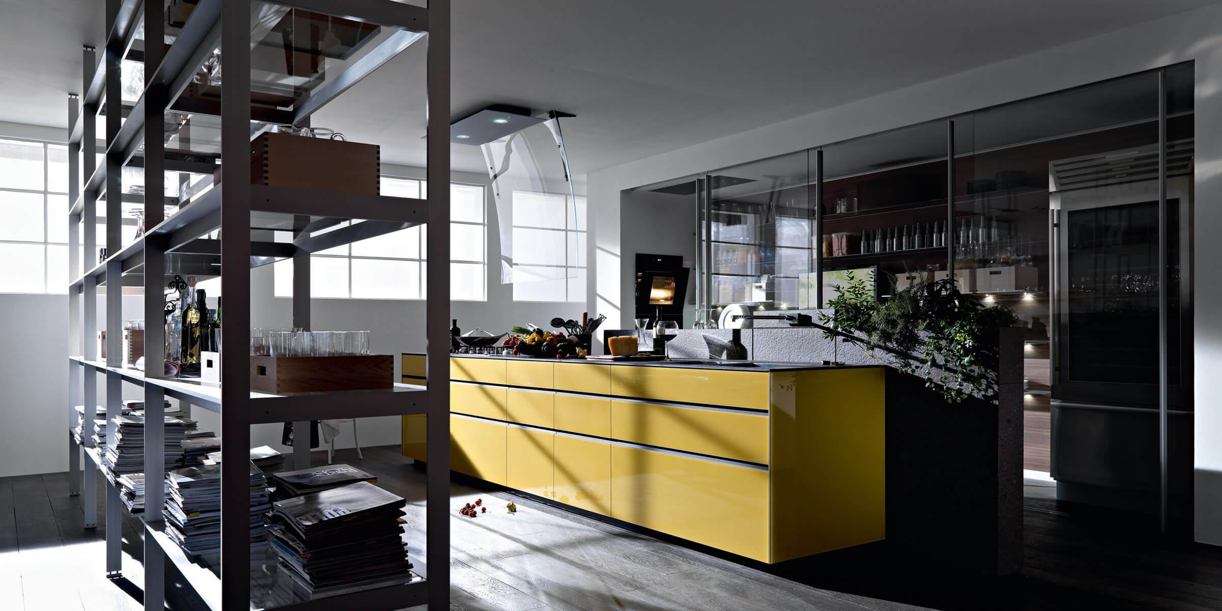 105 artematica vitrum giallo terra 1  - Cocinas de Cristal