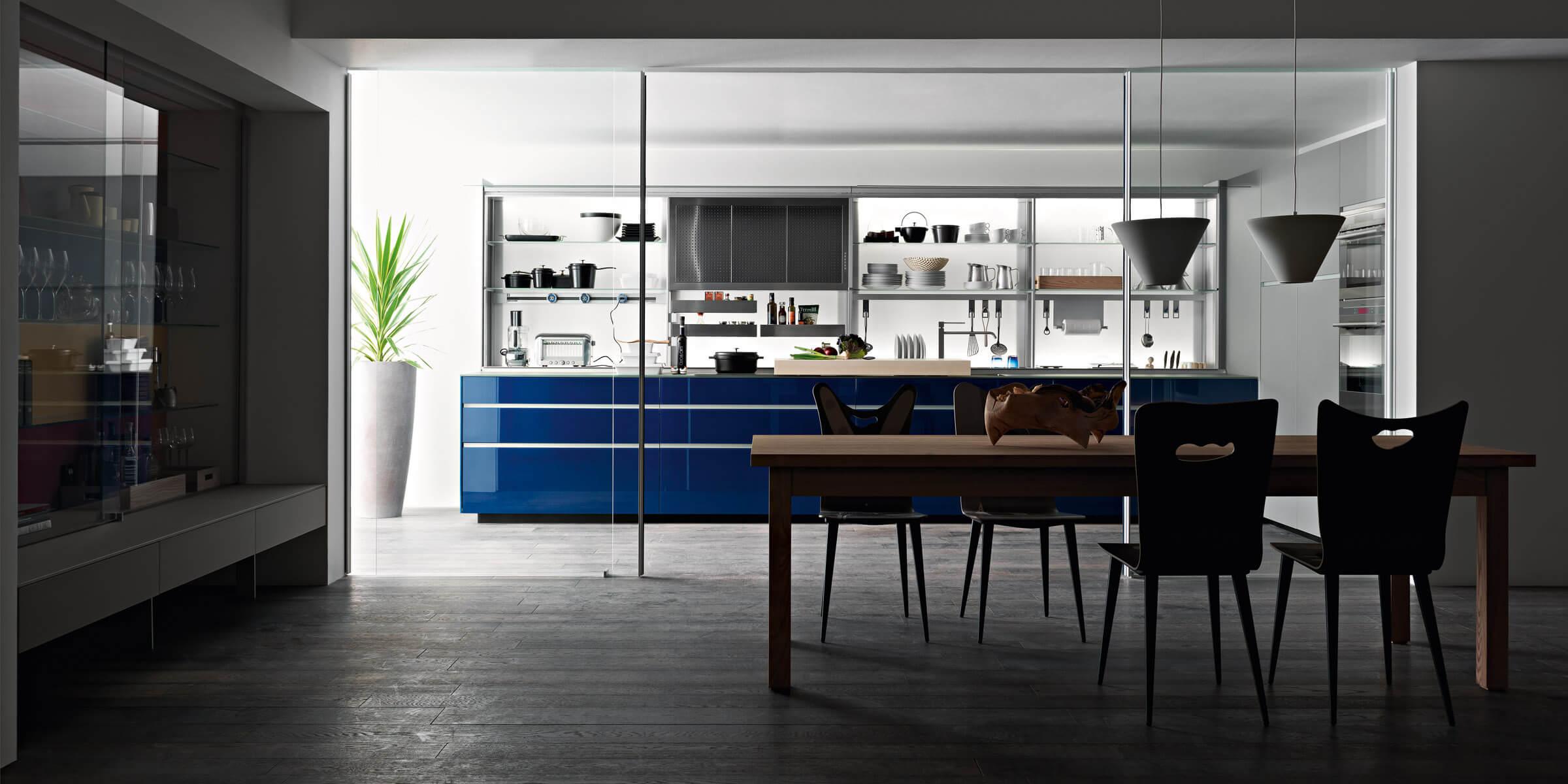 123 new logica system blu valcucine 2  - Cocinas de Cristal