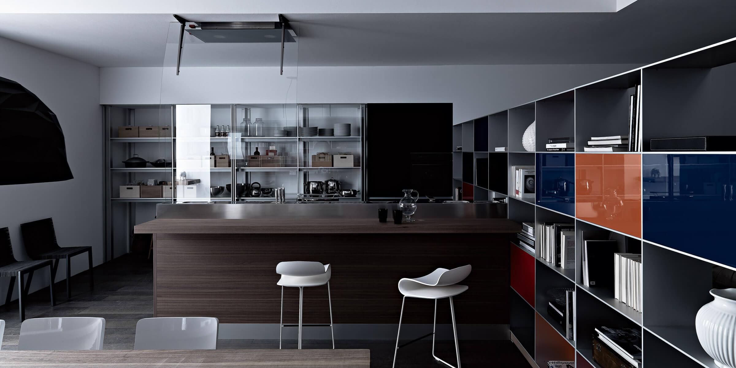 153 artematica vitrum nero e living 6  - Cocinas de Cristal