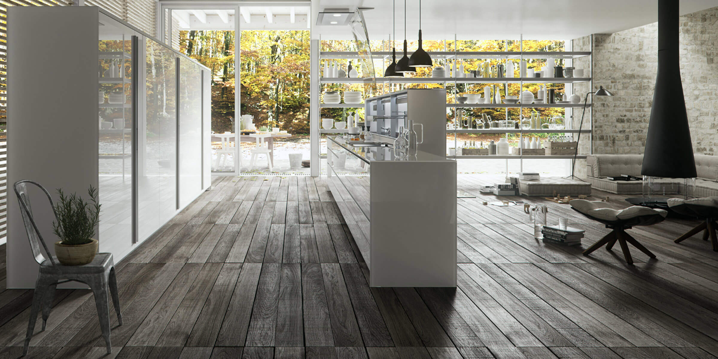 363 new logica system glass kitchen  - Cocinas de Cristal